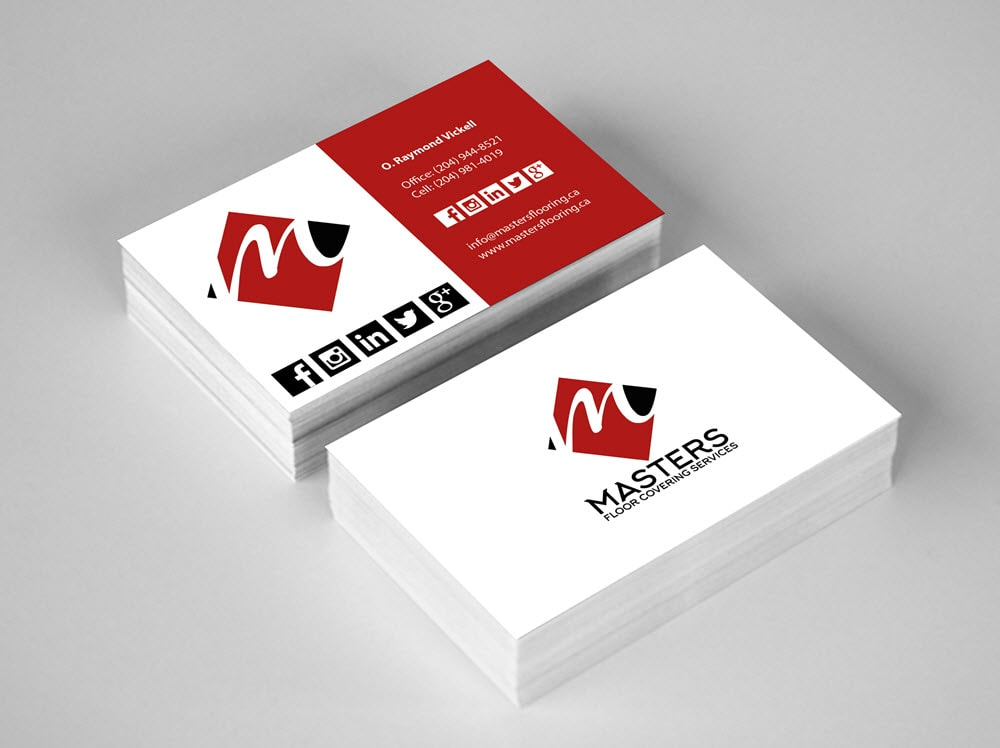 Masters Floor Covering Services - Business Cards