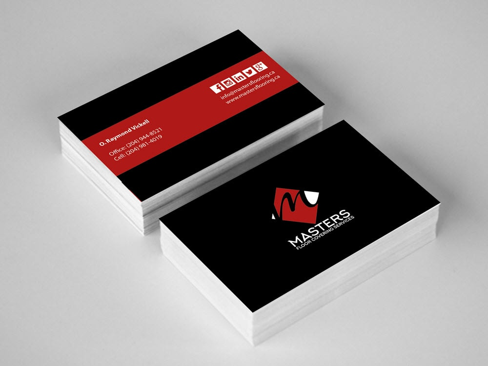 Business Cards - Masters Floor Covering Services