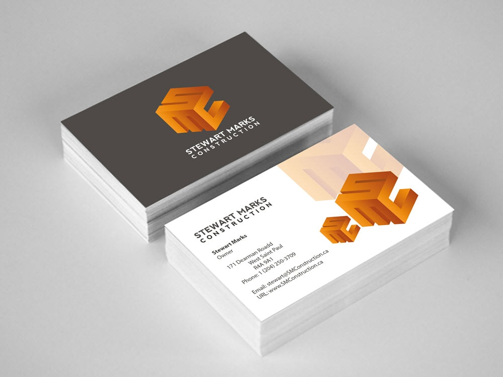 Business Cards - Stewart Marks Construction