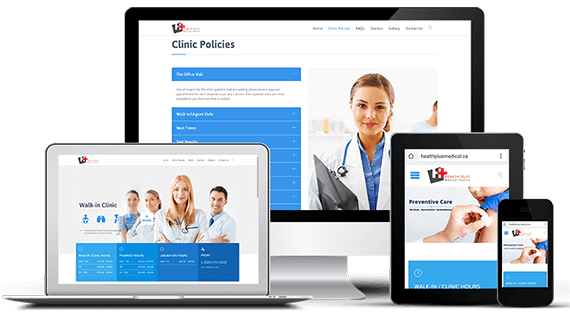 Web Design - Health Plus Medical